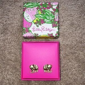 Lilly Pulitzer elephant earrings NEW